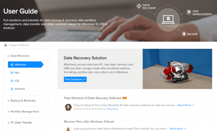 How-To Articles for EaseUS Data Recovery Wizard