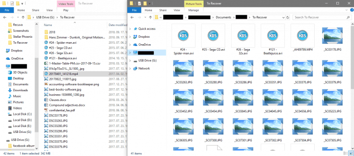 Unreadable Files Found on an External HDD
