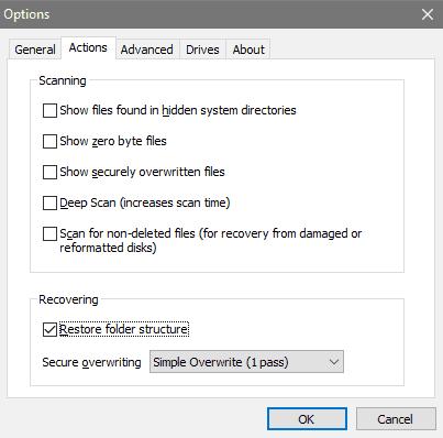 Toggling Deep Scans and Folder Structure Restoration