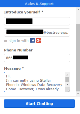 Live Chat Support by Stellar