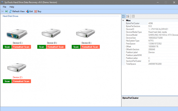 Scanning Options in SysTools